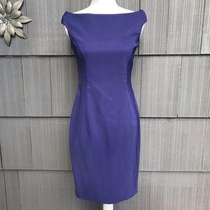 Laundry by Shelli Segal purple sheath dress Sz 4